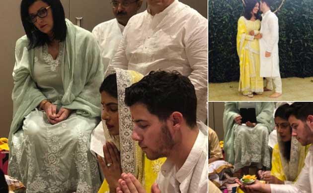 Priyanka Chopra Nick Jonas Engagement Roka Ceremony Photos News Nation English