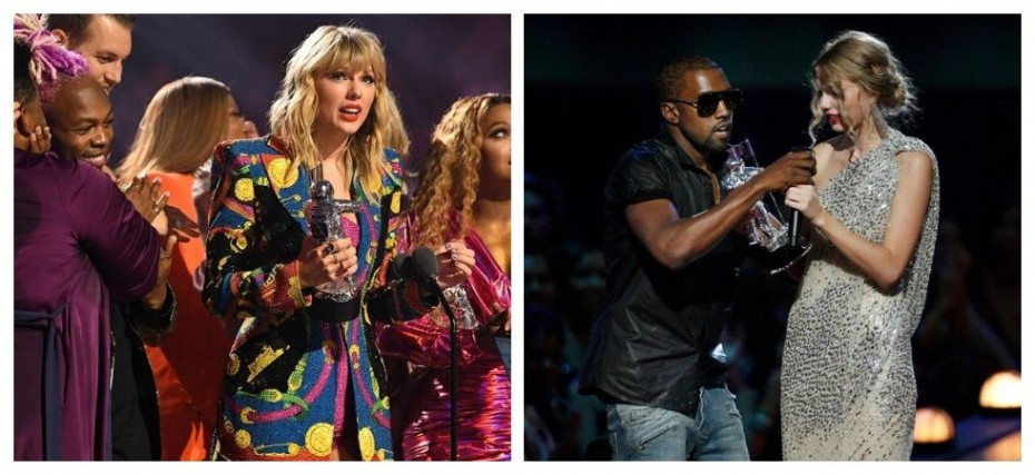 Taylor Swift Makes A Shady Dig At Kanye West 10 Years After Embarrassing Vma S Moment News Nation English
