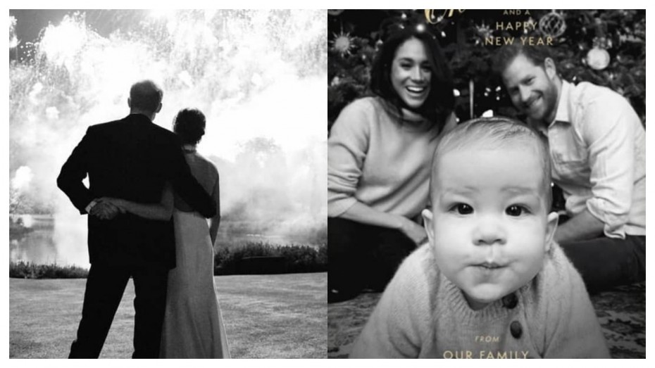 meghan markle prince harry release 1st christmas card with baby archie news nation english prince harry release 1st christmas card