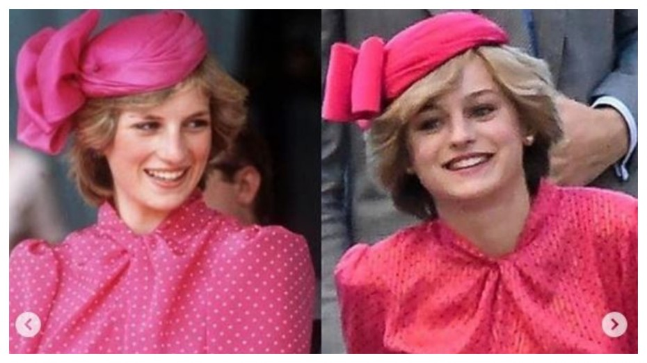 emma corrin looks exactly like princess diana in the crown season 4 shoot news nation english princess diana in the crown season 4