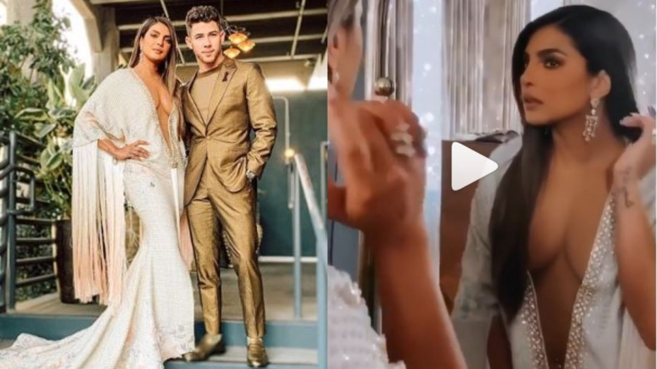 grammys 2020 priyanka chopra s gown with plunging neckline will remind you of jlo s famous barely there dress news nation english grammys 2020 priyanka chopra s gown