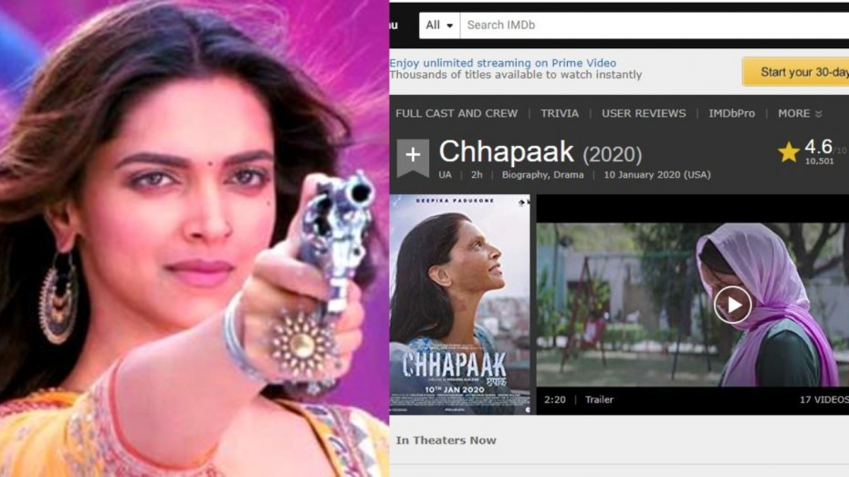Deepika Padukone Reacts To Chaapaak's Low IMDb Review ...