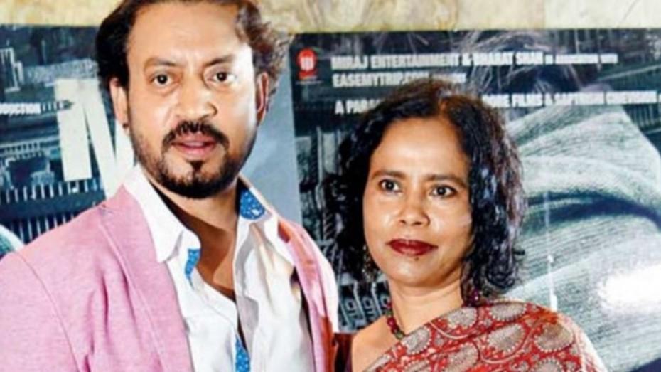 Late Irrfan Khan with wife Sutapa